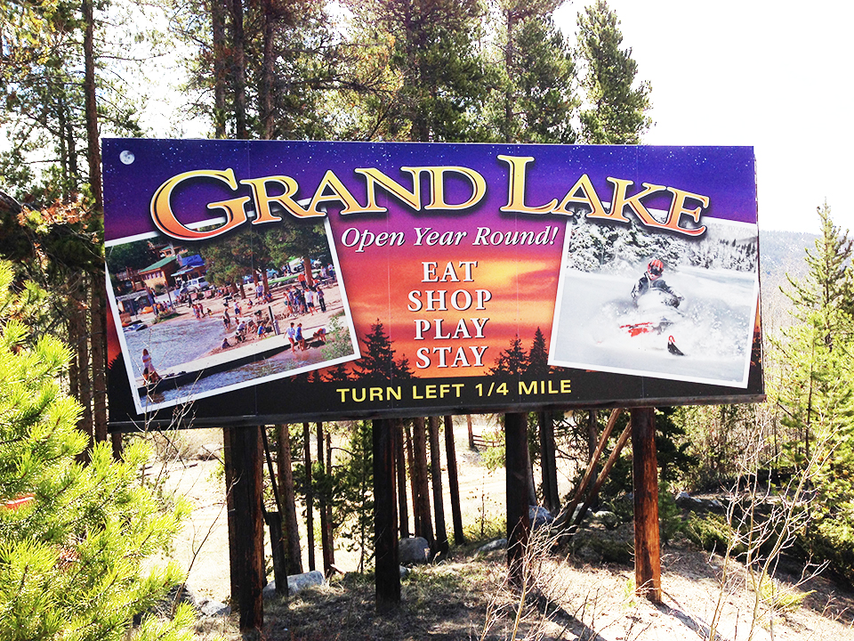 UV Flatbed Printing Grand Lake Billboard
