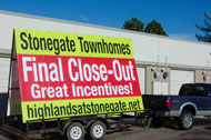 Business Mobile Signs Large Format Printing from IMS Colorado Lone Tree